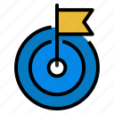 archivement, flag, goal, success, target icon