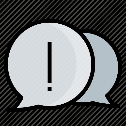bubbles, problem, report icon