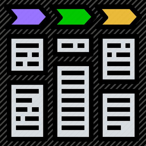 data, detail, list, progress, steps, task icon