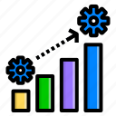 grow, level, management, progress, strategy icon
