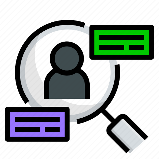 analytic, data, research, search, user, ux icon
