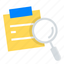 note, idea, search, ux, discovery, sticky icon