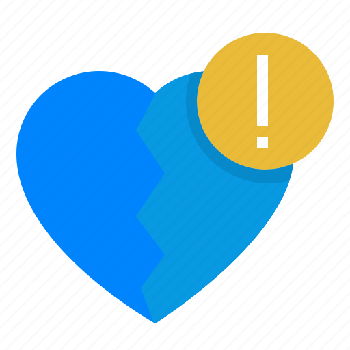 broken, heart, painpoint, problem, report icon