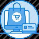 business, creadit card, e-commerce, marketing, money, online shopping, shopping bag, shopping icon icon