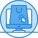 basket, click, computer, concept, e-commerce, lcd, online, shopping, shopping icon icon