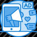 digital, digital marketing, internet marketing, marketing icon, mobile, mobile advertising, mobile commerce icon