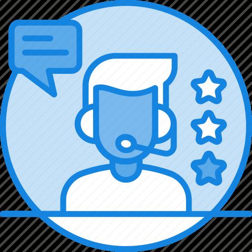 customer care, customer service, earphone, guide, headphone, rating, stars icon