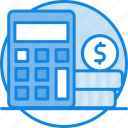 budget, budget icon, calculator, coin, dollar, finance, money, project icon