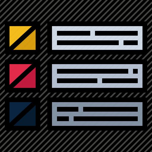 box, design, line, list, listing, ui, wireframe icon