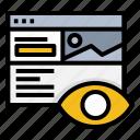 eye, preview, prototype, ui, view, website icon