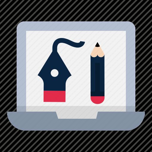 computer, create, design, pencil, ui, visual icon