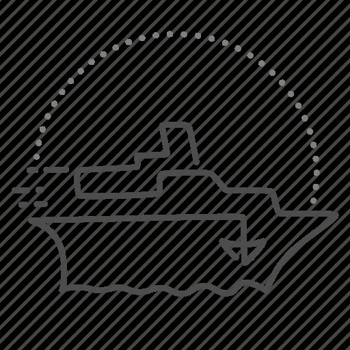 boat, cruise, sail, ship, travel icon
