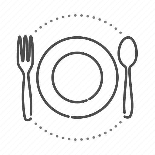 food, gastronomy, meal, restaurant, serving icon