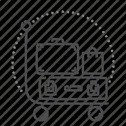 baggage, cart, luggage, travel, trolley icon