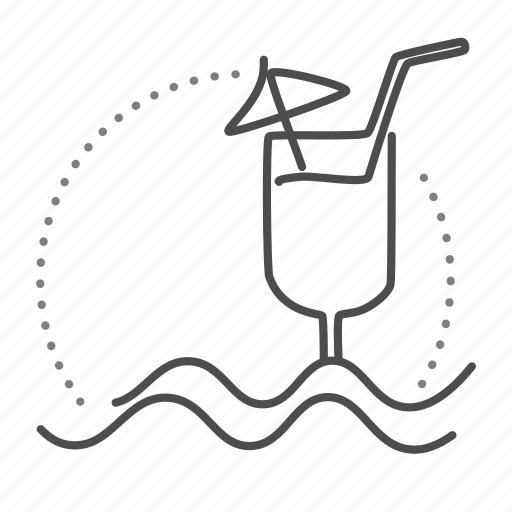 bar, cocktail, drink, glass, pool, water icon