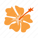 flora, floral, flower, hibiscus, plant, summer, vacation icon