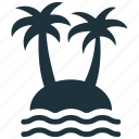 island, palm, tropical icon