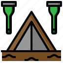camping, miscellaneous, night, tent, tools, utensils icon