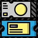 cinema, entertainment, files, folders, pass, ticket icon
