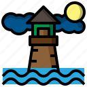 architecture, city, culture, lighthouse, signaling, tower icon