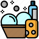 furniture, household, miscellaneous, plate, wash, washing icon