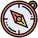 compass, direction, explore, navigation, travel icon