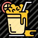 drinking, everage, iced, juice, refreshing icon