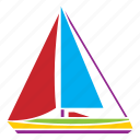 boat, sail, ship, travel, vacation, voyage, yacht icon
