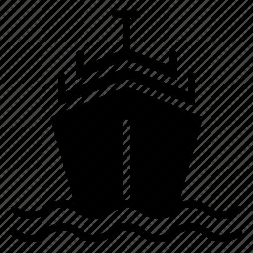 boat, cruise, sailing, ship, travel icon