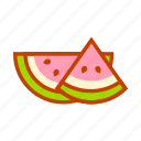 fresh, fruit, healthy, slice, summer, sweet, watermelon icon