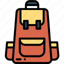 backpack, bag, camping, holiday icon