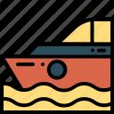cruise, ship, vacation, yacht