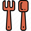 cutlery, fork, fork spoon, spoon icon