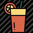drink, glass, juice, orange