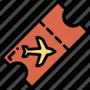 airplane, airplane ticket, plane, ticket