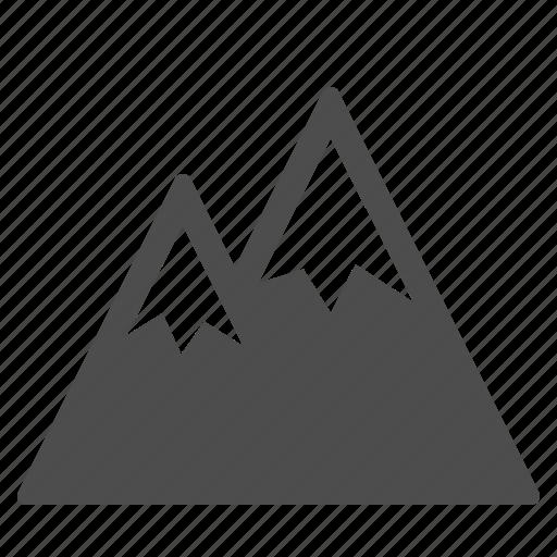 alps, mountain, mountains, snow, travel, vacation, winter icon