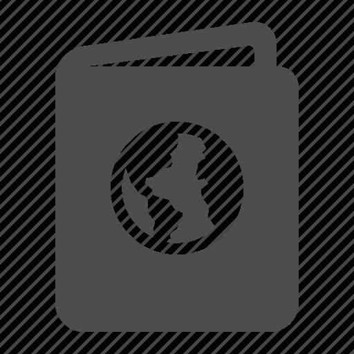 document, pass, passport, travel, vacation icon