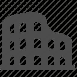 coliseum, colliseum, colloseum, colosseum, landmark, rome, travel icon