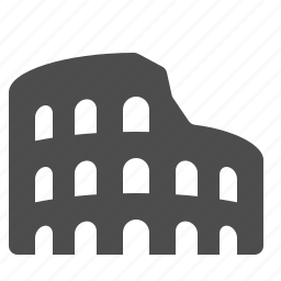 arena, colliseum, colloseum, italy, rome, travel icon