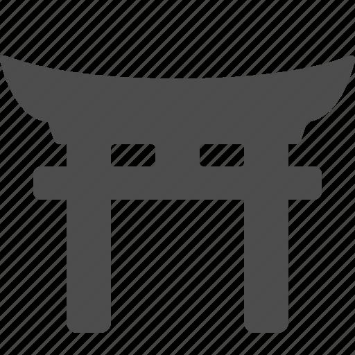 ancient, gate, japan, landmark, temple, torii gate icon