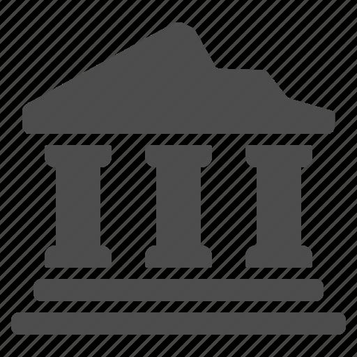 bank, columns, greece, landmark, roman, ruins, temple icon