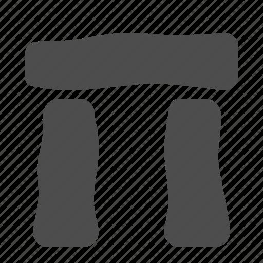 block, england, stone, stonehenge icon