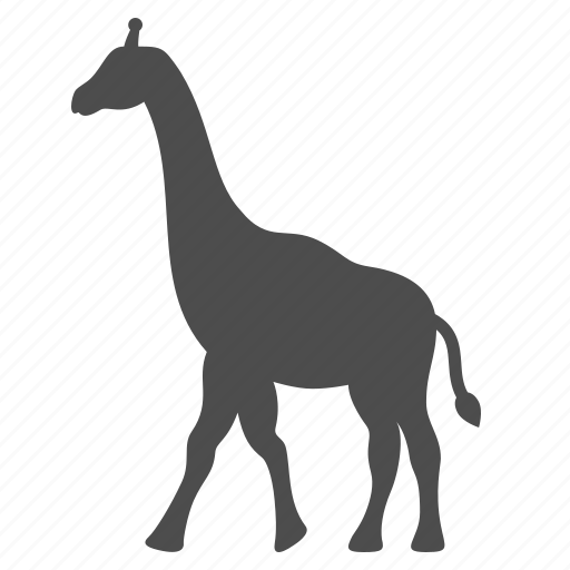 africa, animal, giraffe, safari, travel icon