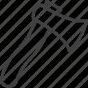 axe, blade, tool, wood icon