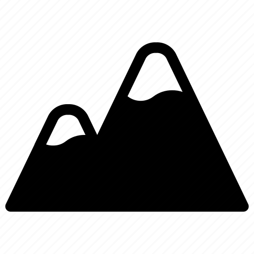 environment, hill, landscape, mountain, nature icon