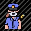 police, policewoman, avatar, vaccine, vaccination