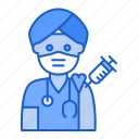 hindu, medic, doctor, avatar, vaccine, vaccination