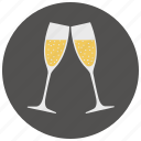 alcohol, champagne, date, drink, glasses, romantic, valentine icon