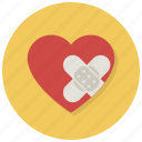 anguish, distress, heart, hurt, love, pain, valentine icon