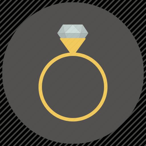 diamond, gem, jewel, jewelry, marriage, valentine, wedding icon
